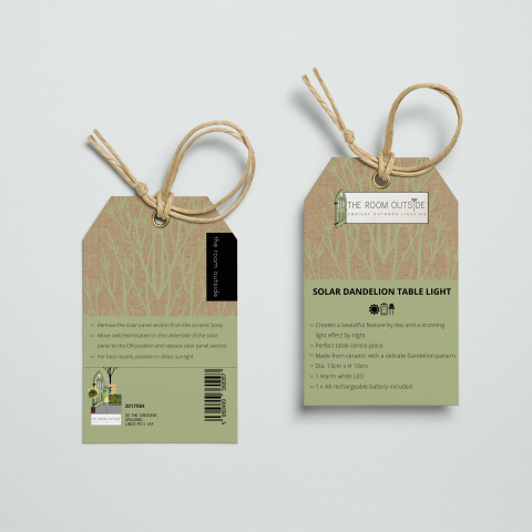 The Room Outside - Product Labels